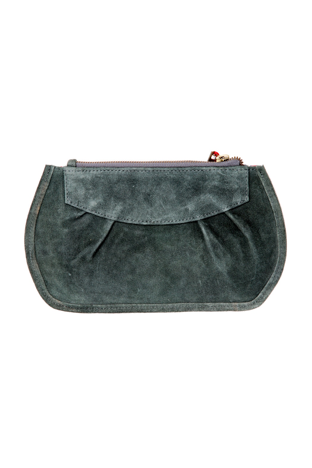 Pampa & Pop Zippered Leather Purse - Front Cropped Image