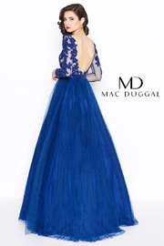 Mac Duggal Long Sleeve Gown - Front full body