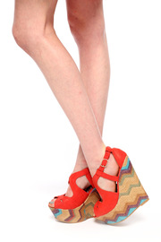 Shoptiques Product: Zigzag Platform Wedge Sandals - Other