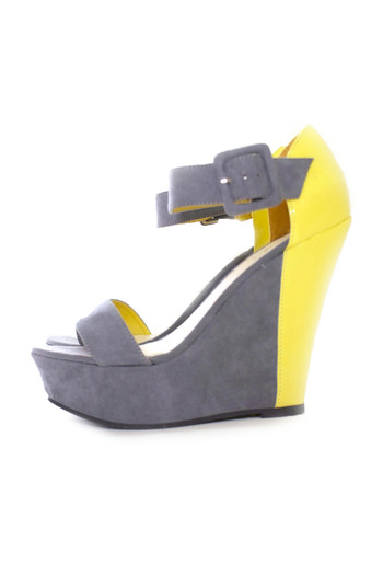 Shoptiques Product: Color-Block Platform Wedge Sandals - main