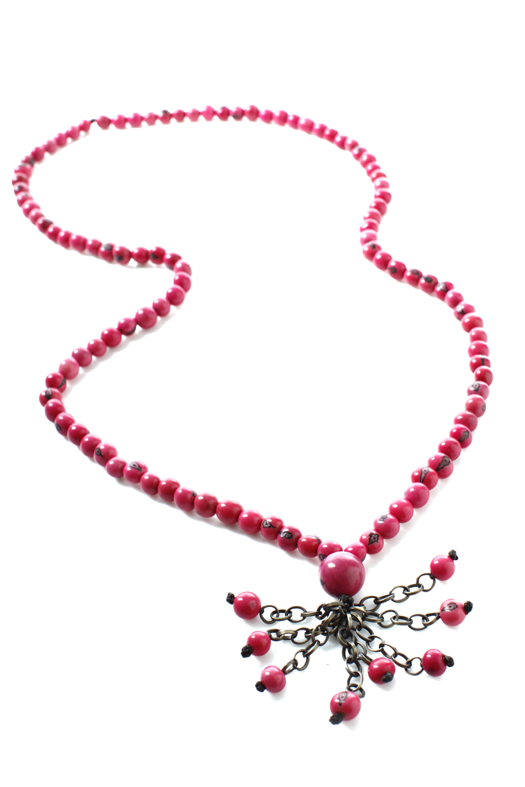 Andean Collection Acai Berry Tassel Necklace - Main Image