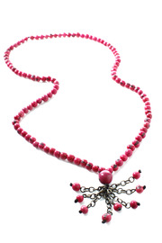 Andean Collection Acai Berry Tassel Necklace - Other