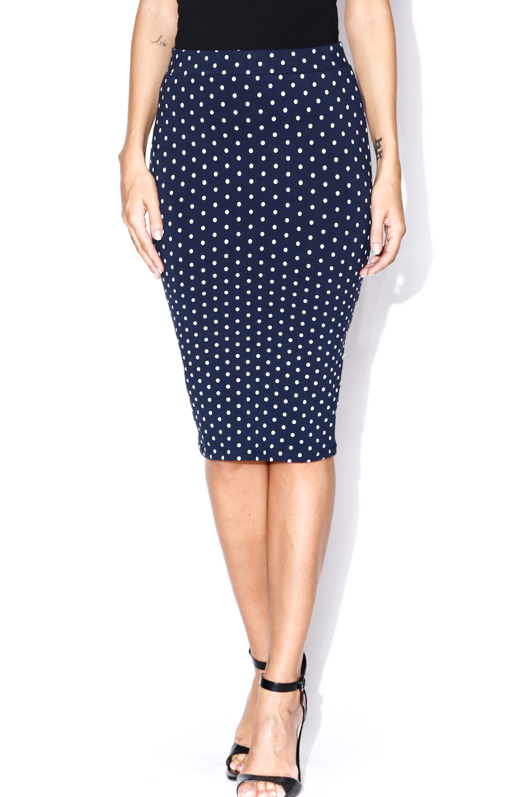 5058b54725 iris Simple Dot Pencil Skirt from Utah by Our Little Store — Shoptiques