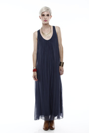 Baci Scoop-Neck Silk Maxi Dress - Front cropped