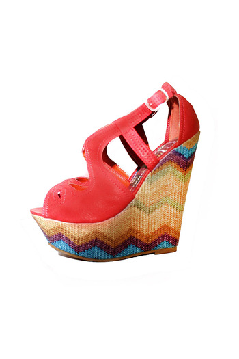 Shoptiques Product: Zigzag Platform Wedge Sandals - main
