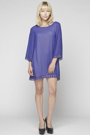 Audrey Lace Edge Dress - Front full body