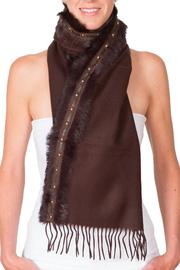 CLAIRE FLORENCE Fur Travel Mini Scarf - Front cropped