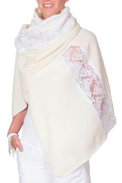 CLAIRE FLORENCE Cashmere and Lace Blanket - Product List Image
