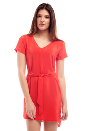 Shoptiques Product: V-Neck Belted Dress