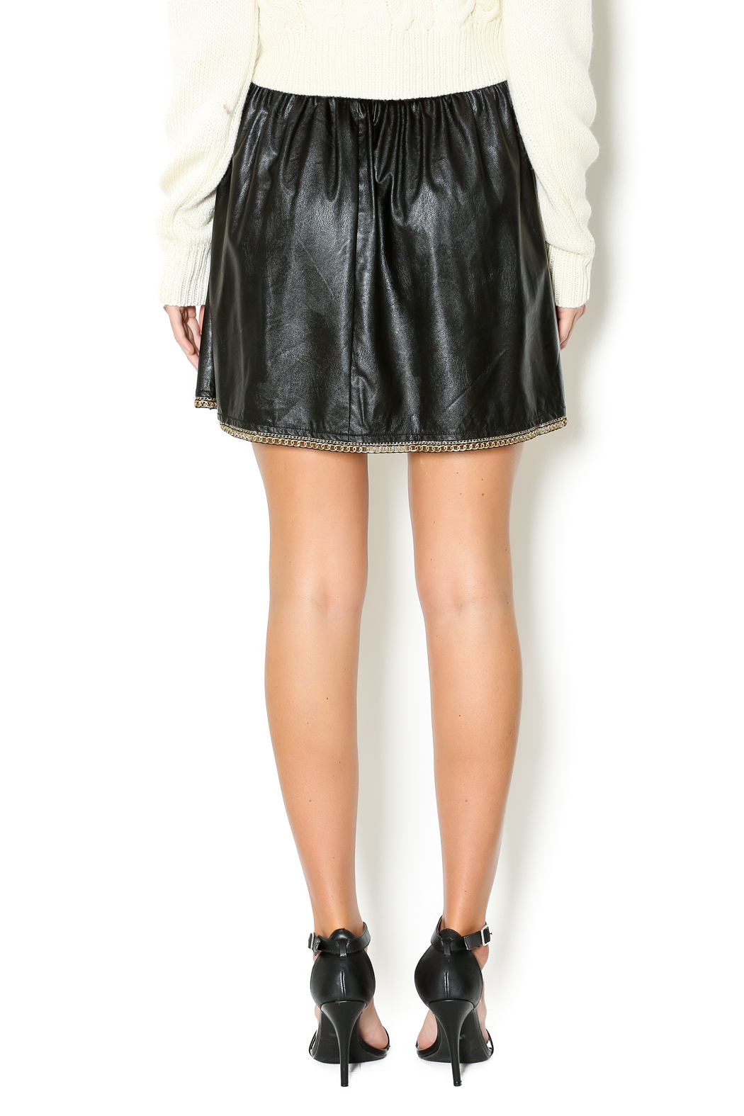 12 black leather skirt from louisiana by kate shoptiques