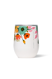 Corkcicle 12 OZ STEMLESS-GLOSS CREAM LIVELY FLORAL - Product Mini Image