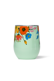 The Birds Nest 12 OZ STEMLESS-GLOSS MINT LIVELY FLORAL - Product Mini Image