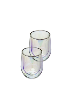 Shoptiques Product: 12 OZ STEMLESS WINE GLASS DOUBLE PACK-PRISM