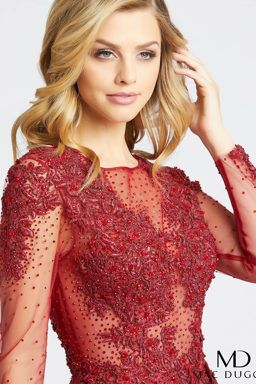 Mac Duggal High Neck Gown - Front Full Image