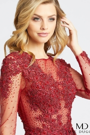 Mac Duggal High Neck Gown - Front full body