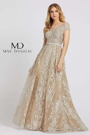 Mac Duggal Illusion Neck Line Gown - Front cropped