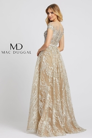 Mac Duggal Illusion Neck Line Gown - Front full body