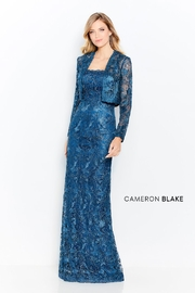 Cameron Blake 120602 - Long Dress, Dark Teal - Product Mini Image