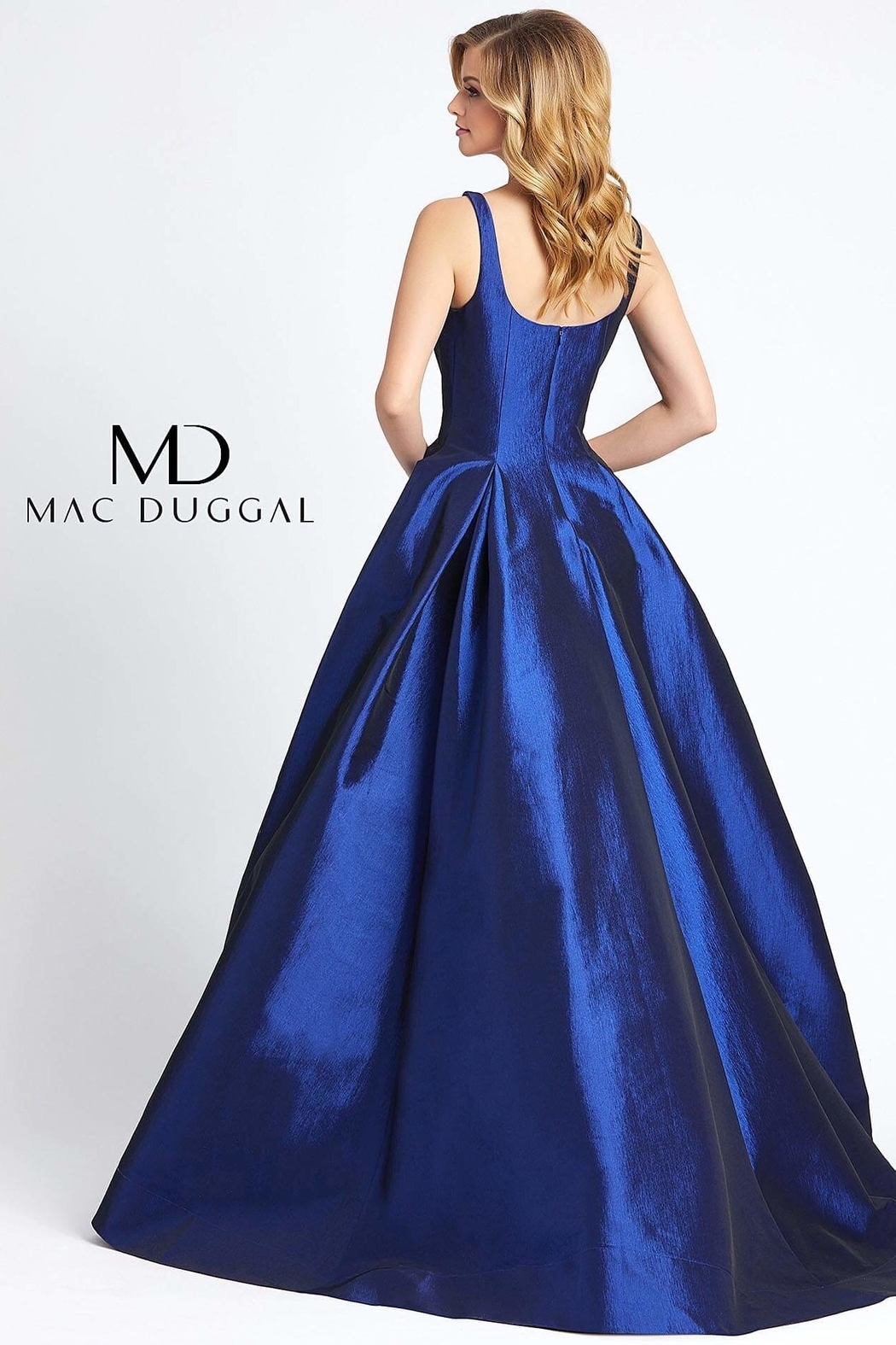 Mac Duggal Square Neckline Gown - Front Full Image