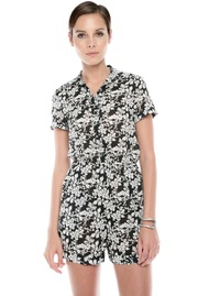 Alice + Olivia Floral-Print Romper - Front cropped