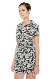 Shoptiques Product: Floral-Print Romper - Side cropped