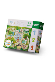 Crocodile Creek 123 Zoo 24 Piece Early Learning Puzzle - Product Mini Image