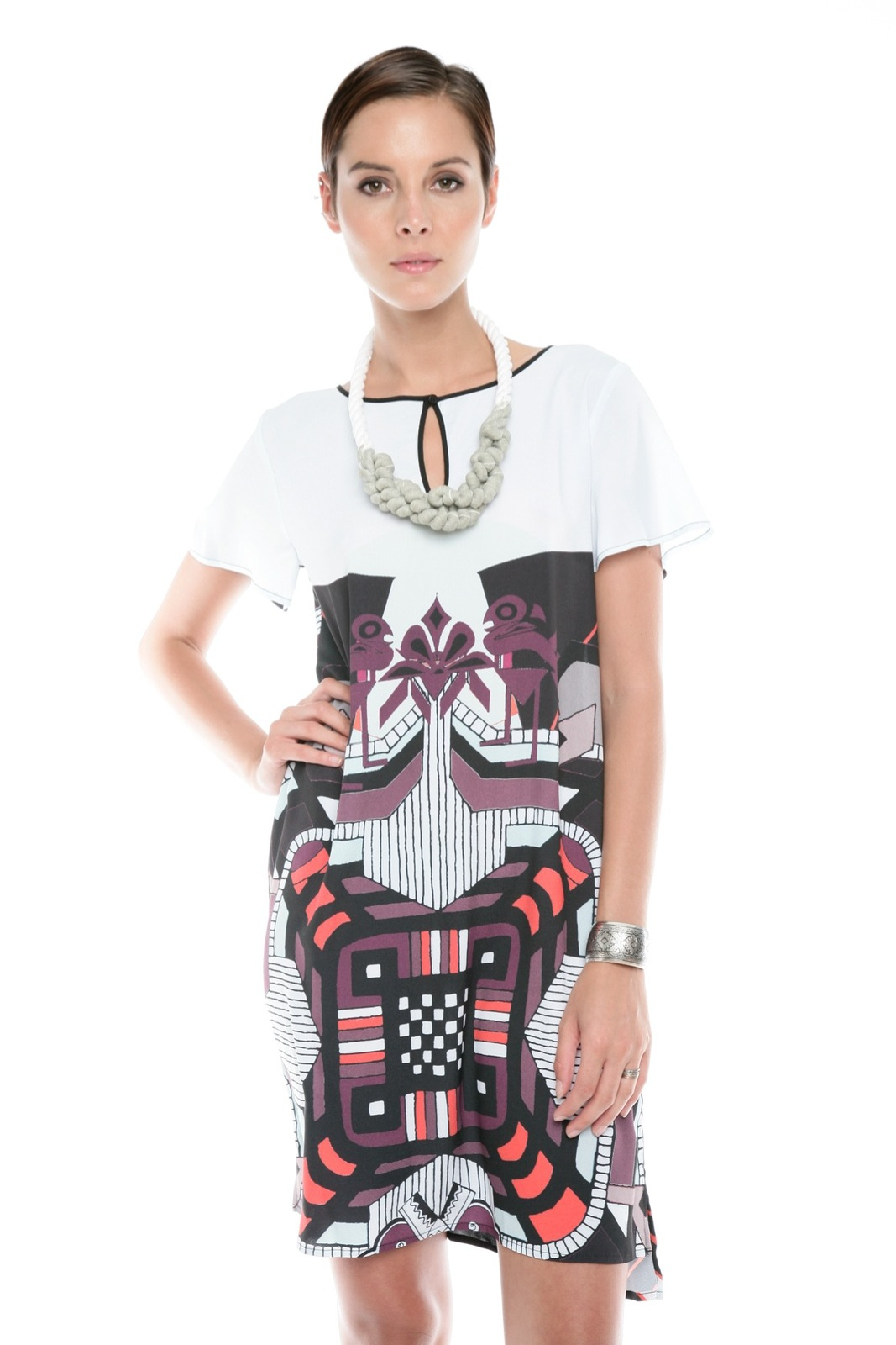 Clover Canyon Graphic Print Dress - Front Cropped Image