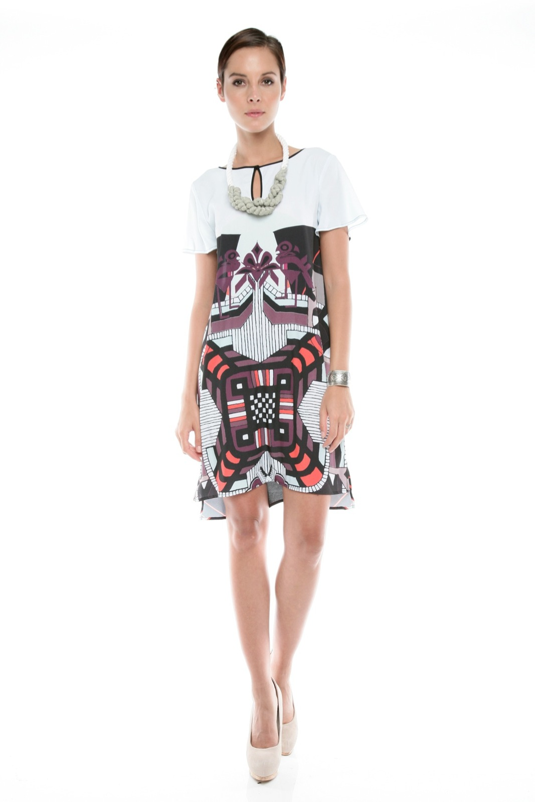 Clover Canyon Graphic Print Dress - Front Full Image