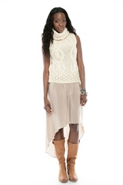 CUT25 BY YIGAL AZROUEL Hi-Low Silk Skirt - Other