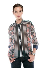 Clover Canyon Sheer Buttondown Blouse - Front cropped