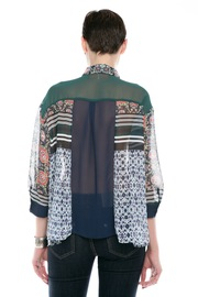 Clover Canyon Sheer Buttondown Blouse - Back cropped