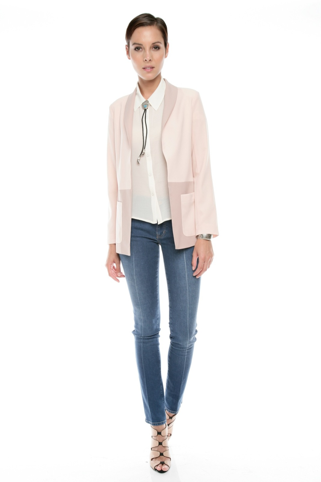 Finders Keepers Two-Tone Blazer - Front Full Image