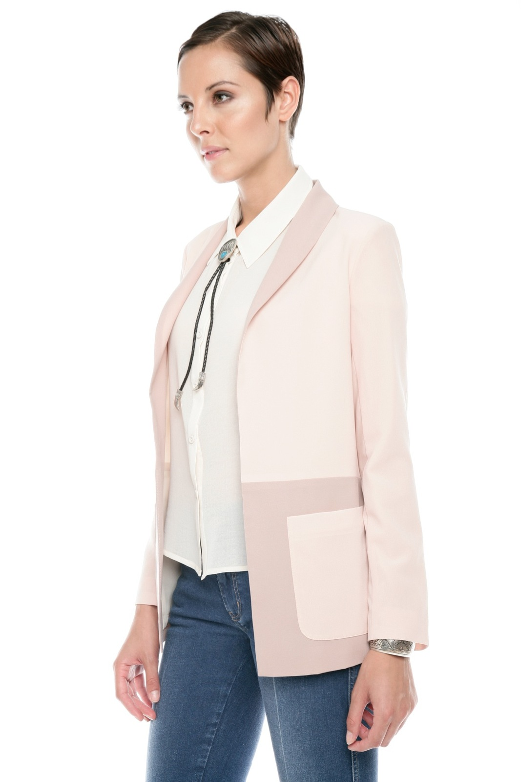 Finders Keepers Two-Tone Blazer - Side Cropped Image