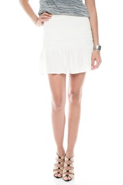 Joie Smocked Silk Skirt - Front cropped