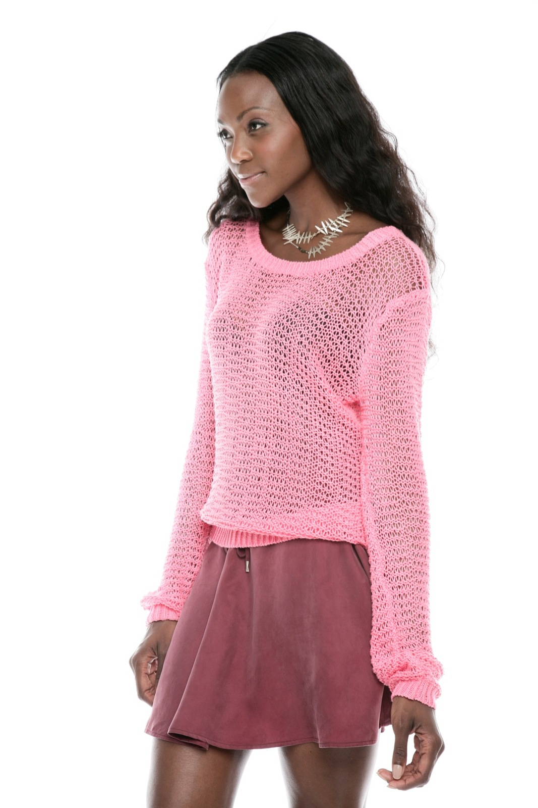Something Else Loose-Knit Pullover Sweater - Side Cropped Image