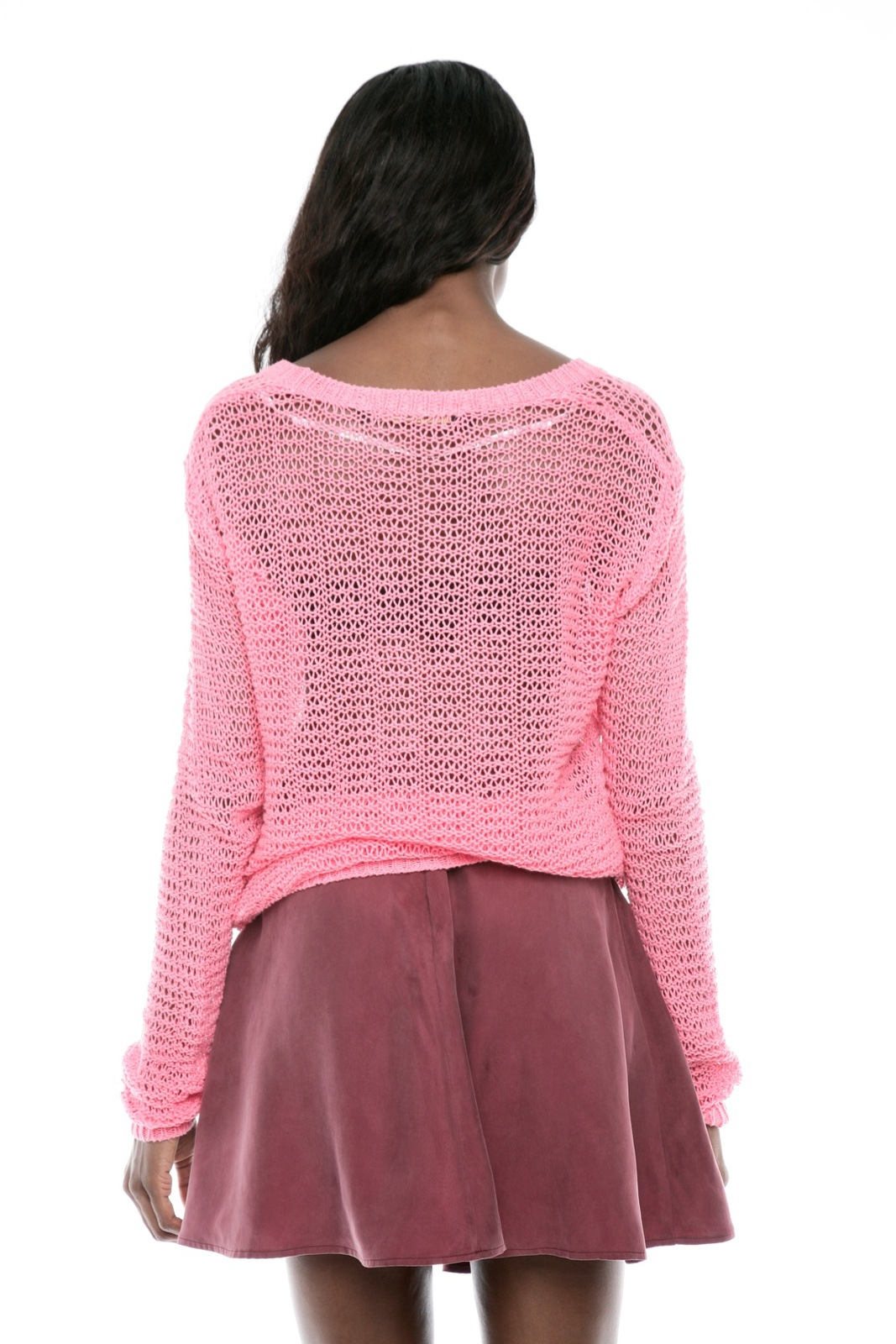 Something Else Loose-Knit Pullover Sweater - Back Cropped Image