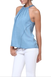 1250 c Denim High Neck Top - Product Mini Image