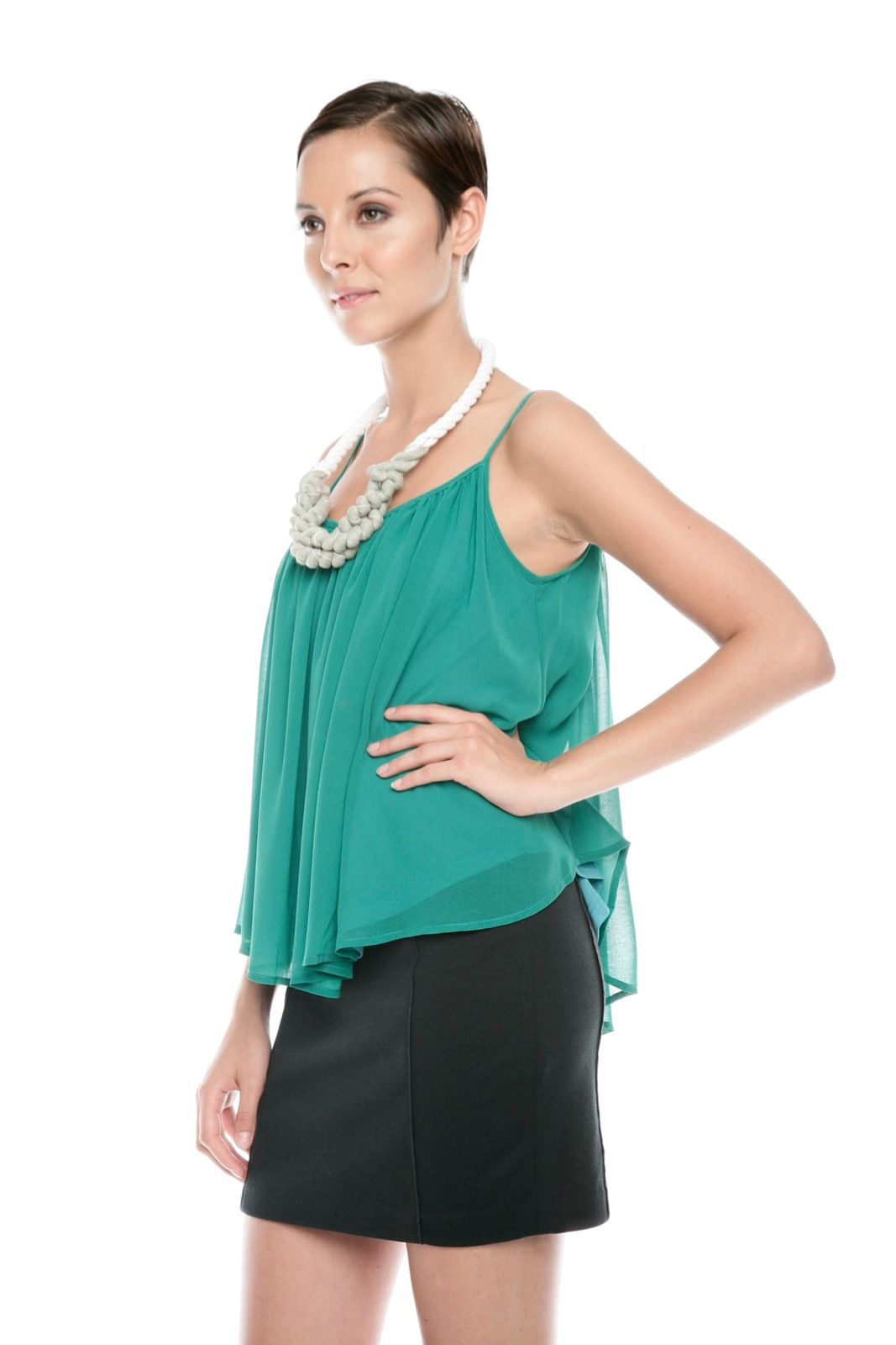 Ark & Co. Spaghetti-Strap Swing Top - Side Cropped Image