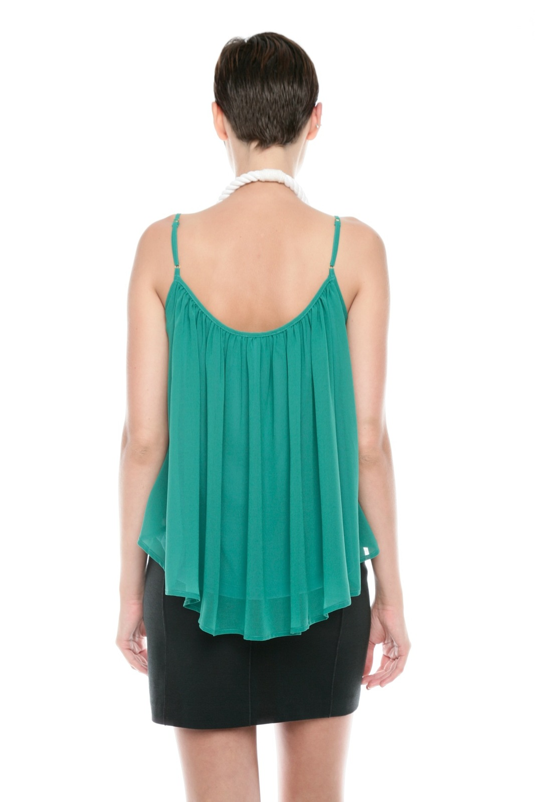 Ark & Co. Spaghetti-Strap Swing Top - Back Cropped Image
