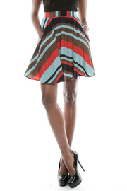 Shoptiques Product: Striped Circle Skirt