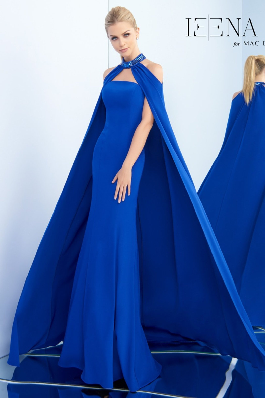 Mac Duggal Strapless Gown and Cape - Front Cropped Image