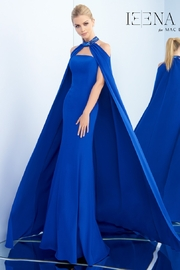 Mac Duggal Strapless Gown and Cape - Front cropped