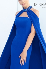 Mac Duggal Strapless Gown and Cape - Side cropped