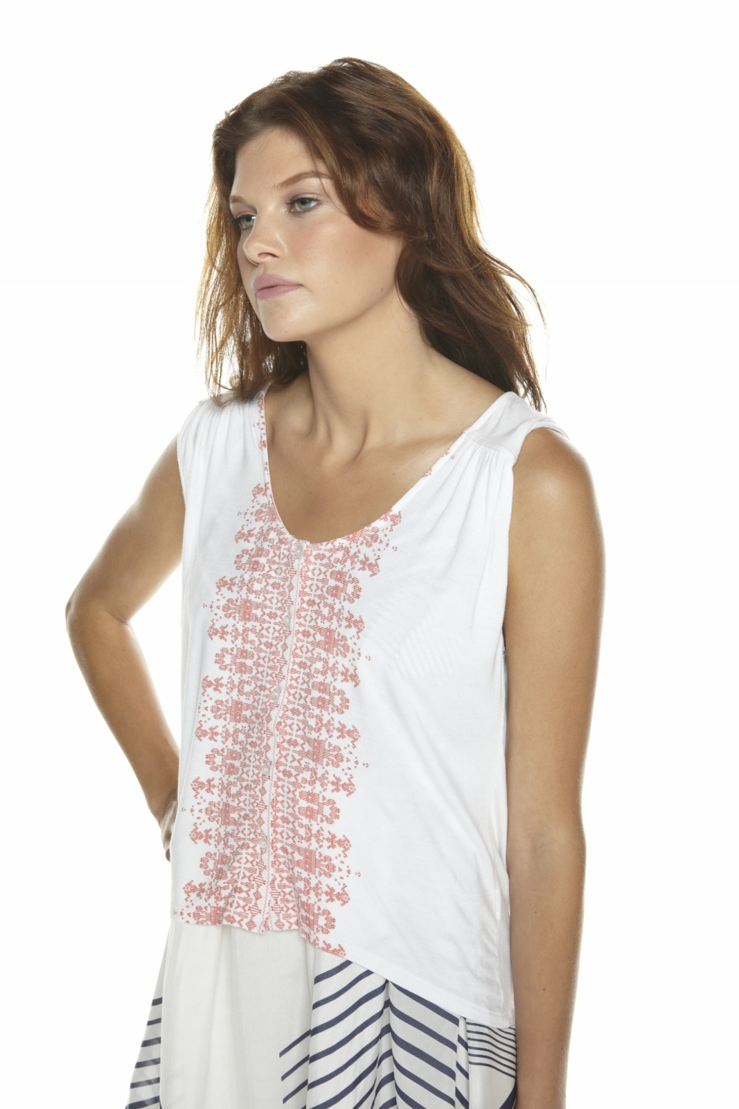 Townsen Button-Down Tank - Side Cropped Image