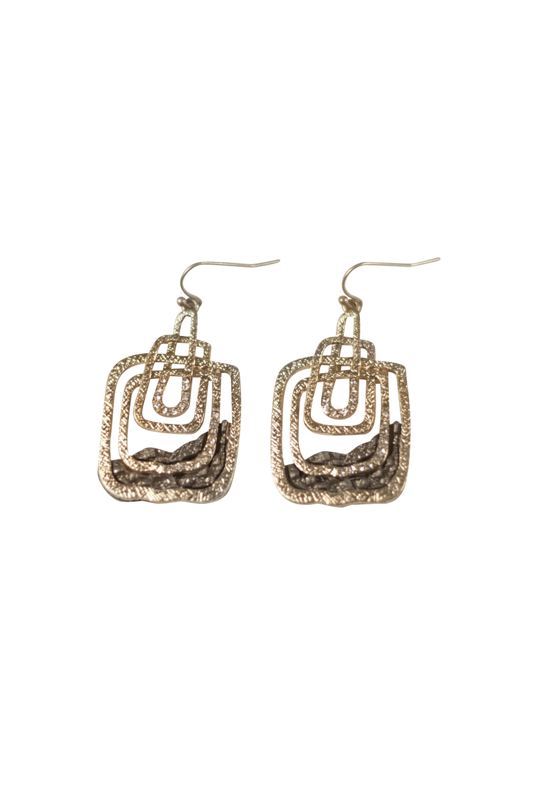 Langford Market Stacked Rectangle Earrings - Main Image