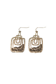 Langford Market Stacked Rectangle Earrings - Front cropped