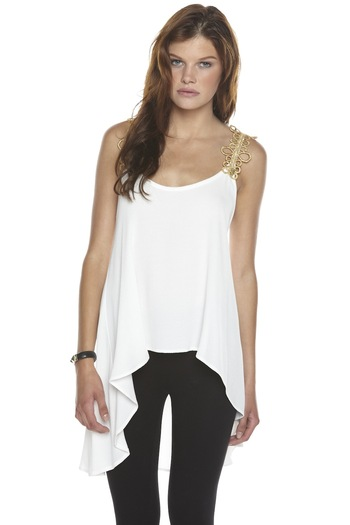 Shoptiques Product: Gold-Trim Blouse - main