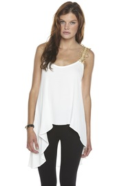 Shoptiques Product: Gold-Trim Blouse - Front cropped