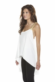 Shoptiques Product: Gold-Trim Blouse - Front full body