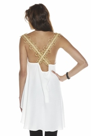 Shoptiques Product: Gold-Trim Blouse - Side cropped